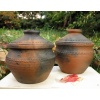 Cooking pot, red - small. Pit fired