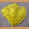 Ostrich feather, yellow