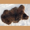 Sheep fur, brown